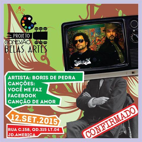 Boris estará cantando as músicas de sua autoria junto da voz de Rodrigo Laterza